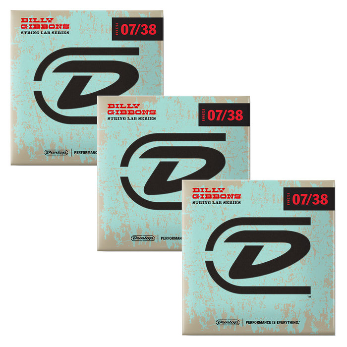 Dunlop (3-Pack) Rev Willy's Billy Gibbons Signature Guitar Strings 07-38