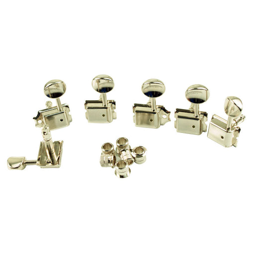 Gotoh Vintage Left-Handed 6-In-Line Locking Tuners Nickel