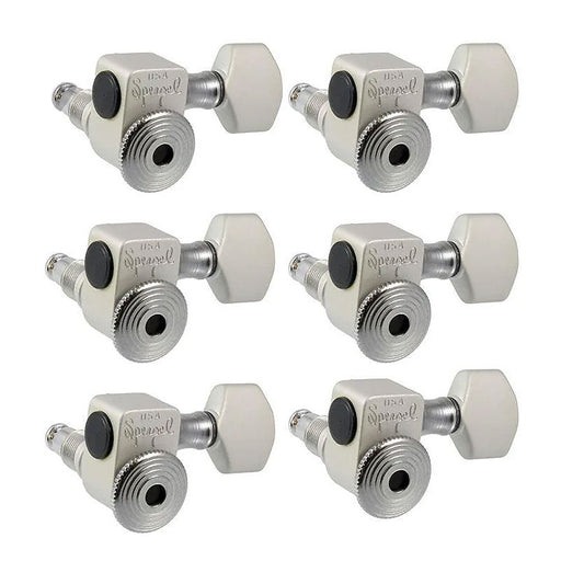 Sperzel 6-in-line Staggered Locking Tuners Satin Chrome TK-7467-011