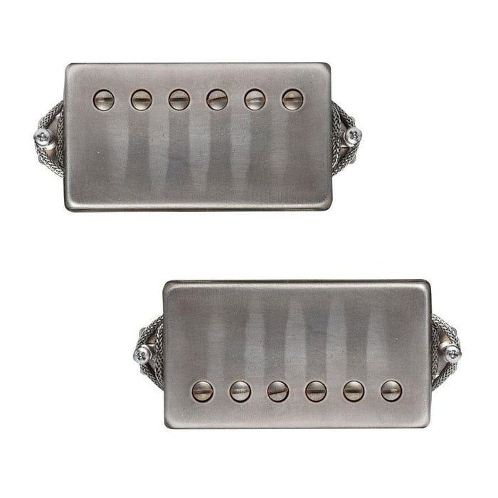 Lollar Imperial Low Wind Humbucker Pickup Set Aged Nickel Covers