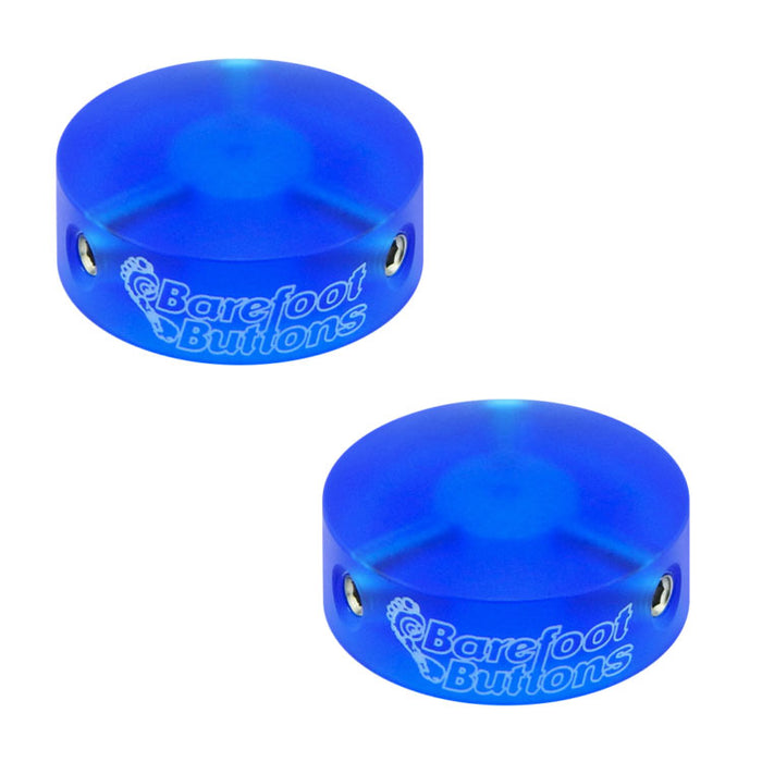 Barefoot Buttons Version 1 Colored Acrylic Blue (Set of 2)