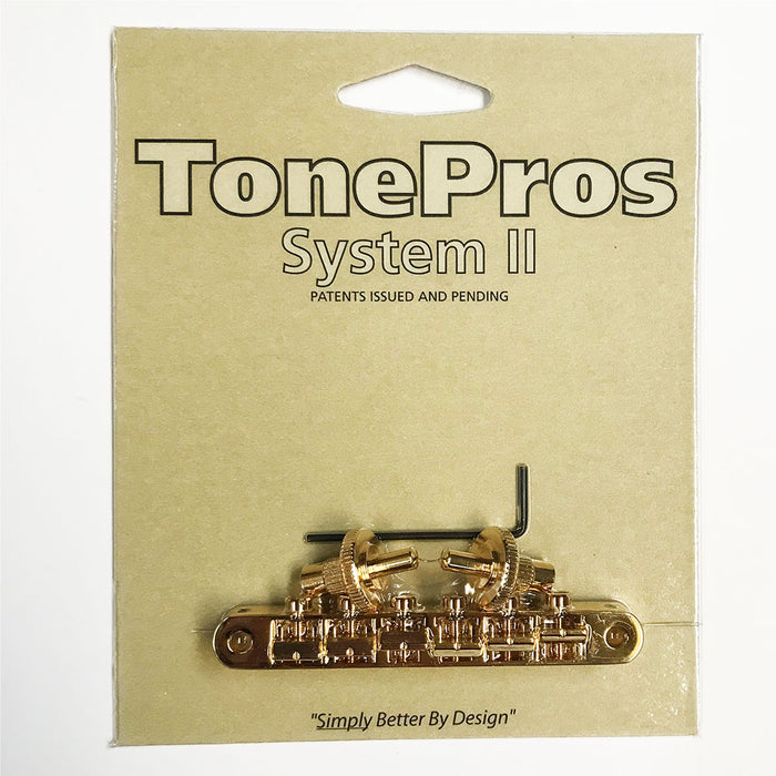 TonePros NVR2P TonePros Standard Nashville Post Tuneomatic (notched) Gold