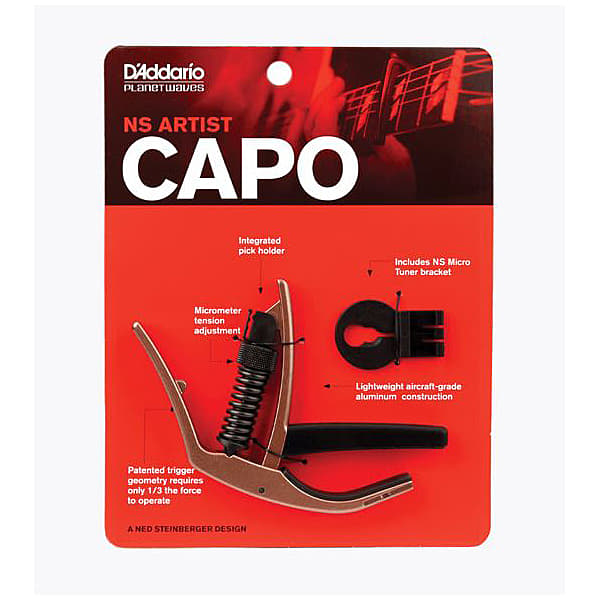 Planet Waves NS Artist Capo - Metallic Bronze Finish PW-CP-10MBR
