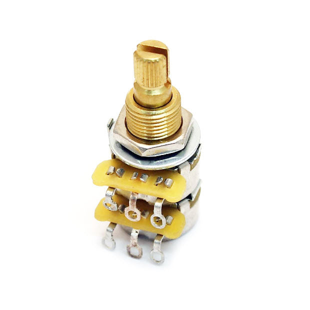 CTS Dual 500K Pot Blend/Balance Audio Taper Potentiometer With Center Detent