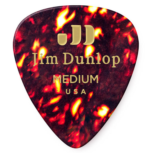 Dunlop Shell Classic Medium Celluloid Guitar Picks - 72 Pack (483R05MD)