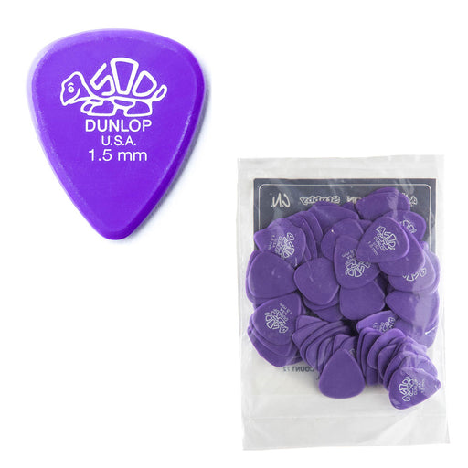 72-Pack Dunlop 41R1.5 Delrin 500 Guitar Picks Heavy 1.5mm