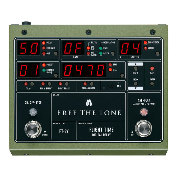 Free The Tone Flight Time Digital Delay Pedal FT-2Y