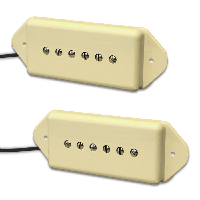 Lindy Fralin -5% Underwound P-90 Dogear Pickup Set P90 Cream Covers