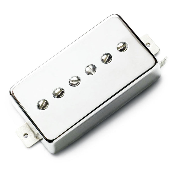 Lindy Fralin Hum-Cancelling P-90 In Humbucker Nickel Cover Bridge Position