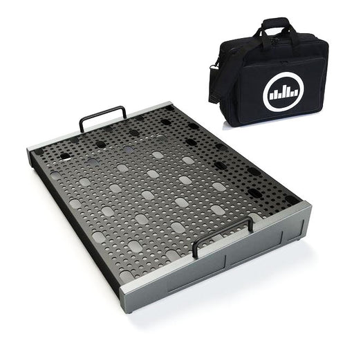 "Temple Audio Design Duo 17 (17"" x 12.5"") Pedalboard w/Soft Case Gun Metal"
