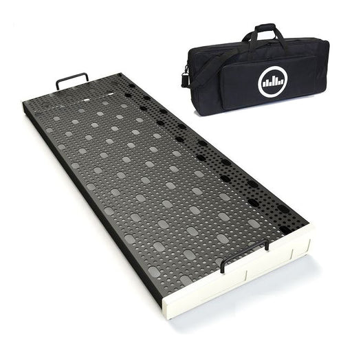 "Temple Audio Design Duo 34 (34"" x 12.5"") Pedalboard w/Soft Case Vintage White"