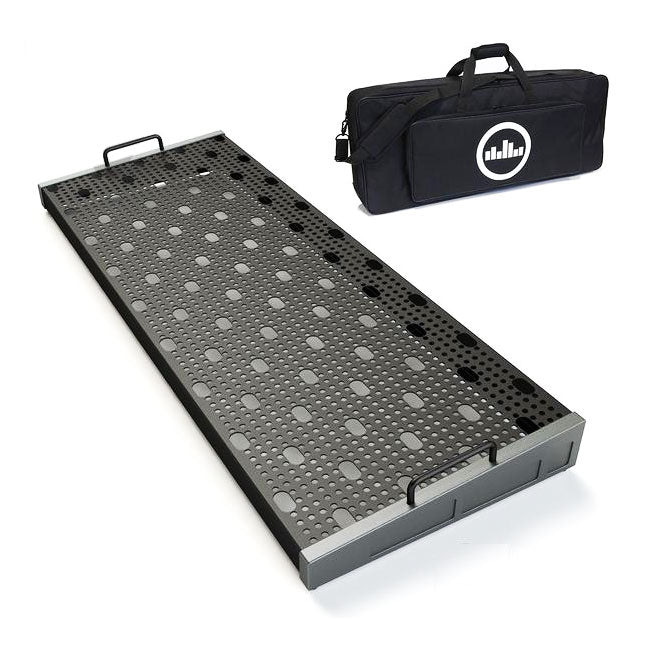 "Temple Audio Design Duo 34 (34"" x 12.5"") Pedalboard w/Soft Case - Gun Metal"