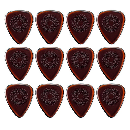 12-Pack! Dunlop 510P Primetone™ Standard Sculpted Plectra with Grip (1.0 mm)