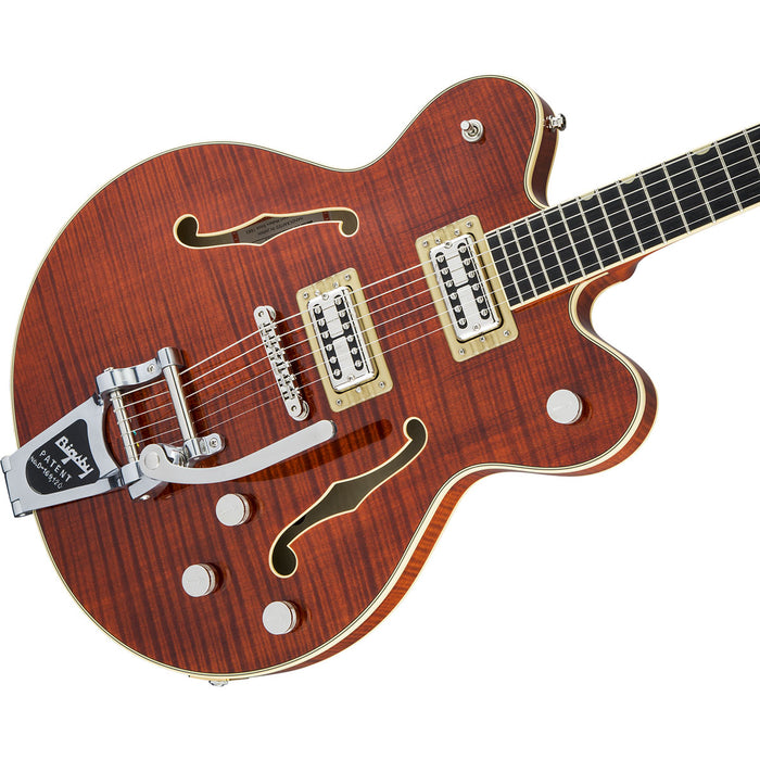 Gretsch Players Edition Broadkaster Bigsby Full'Tron Tiger Flame Bourbon Stain