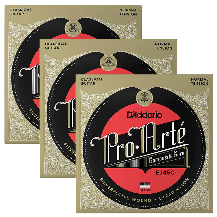 3 SETS! D'Addario Pro-Arte Composite Classical String Normal Tension EJ45C