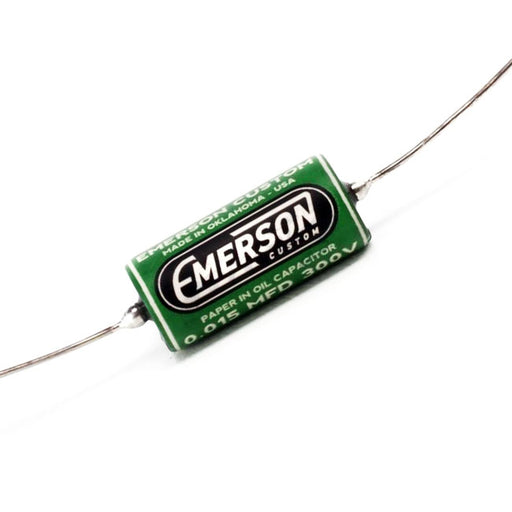 Emerson Custom .015 300v Paper In Oil Tone Capacitor Green Graphics