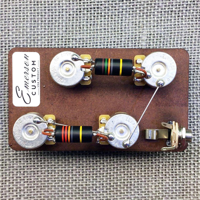 Emerson Custom Les Paul Prewired Kit Short Shaft Pots
