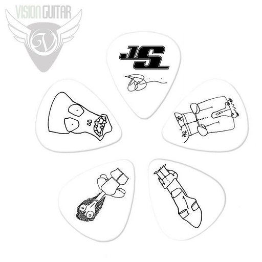 Planet Waves Joe Satriani Signature Guitar Picks - Medium Gauge .71mm - White