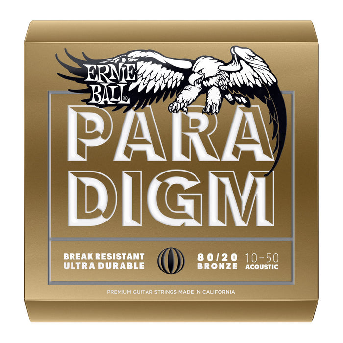 Ernie Ball 2090 Paradigm Light 80/20 Bronze Acoustic Guitar Strings (10-50)