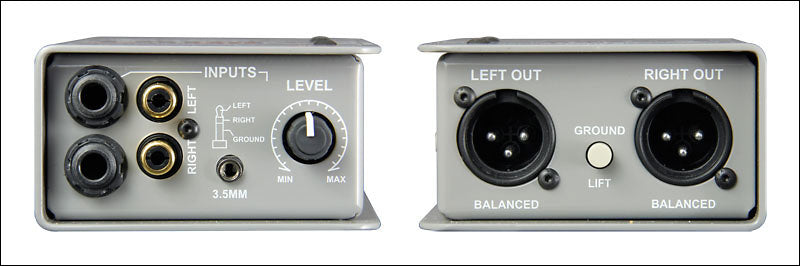Radial Engineering Trim-Two Passive Stereo Direct Box with Level Control
