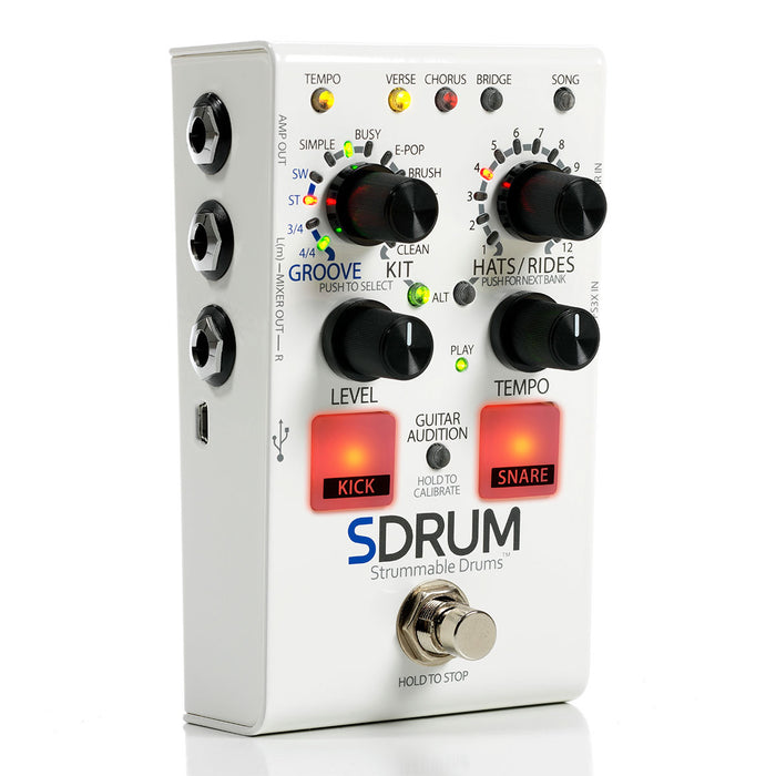 DigiTech SDRUM Strummable Drums - Intelligent Drum Machine Pedal