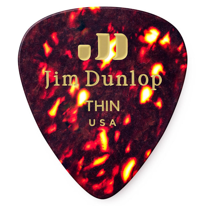 Dunlop Shell Classic Thin Celluloid Guitar Picks - 72 Pack (483R05TH)