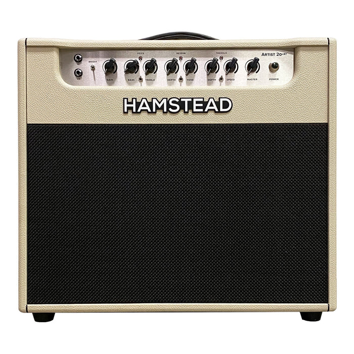 "Hamstead Artist 20+RT Hand-Wired 1x12"" Combo Amplifier Cream Tolex"