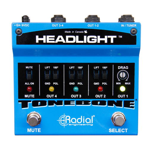 Radial Tonebone Headlight Four Output Guitar Amp Selector