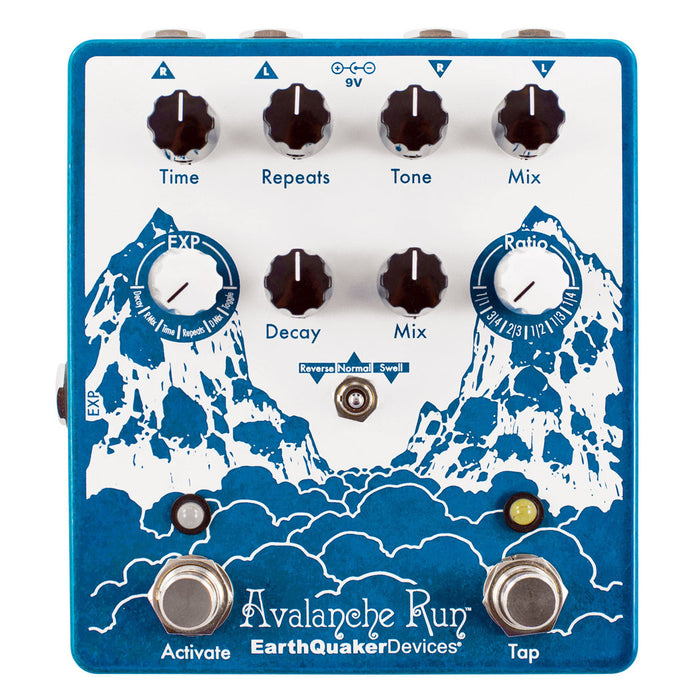 Earthquaker Devices Avalanche Run™ Version 2 Stereo Reverb & Delay w/ Tap Tempo
