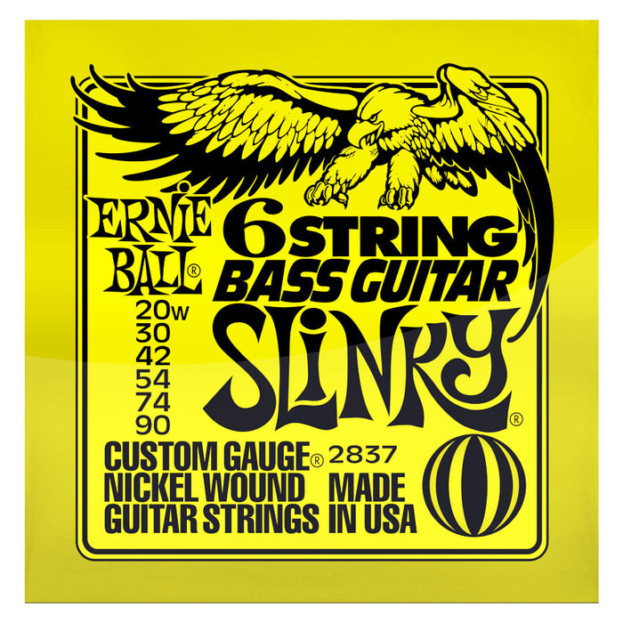 Ernie Ball 2837 Slinky 6-String Small Ball End 29 5/8 Scale Bass Guitar Strings