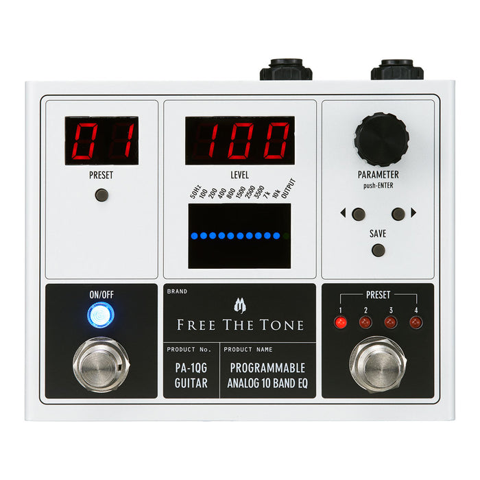 Free The Tone PA-1QG Programmable Analog 10 Band EQ (For Guitar)
