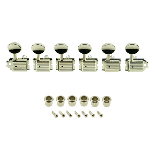 Kluson 6-In-Line Deluxe No-Line Metal Button Tuning Machines KD-6B-NMNL