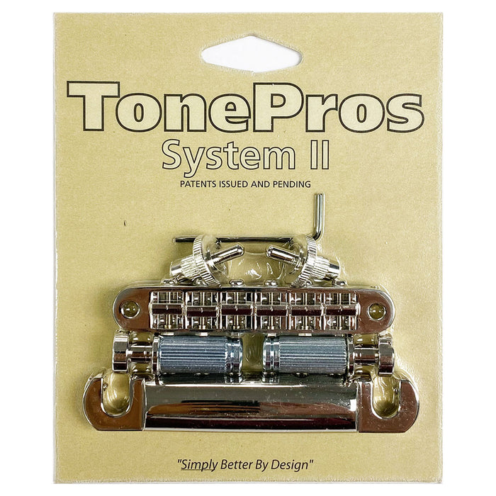 TonePros Nashville Pre-Notched Nickel Bridge Tailpiece Set LPNM04-N