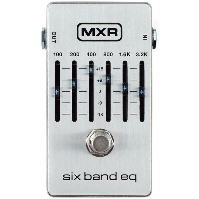MXR M109S 6-Band Graphic EQ Equalizer (New Upgraded Design)