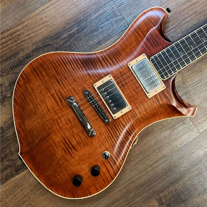 Mikagi Hoyka Custom Electric Guitar 4A Flame Top Nitro Bengel Burst