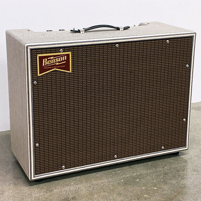 Benson Amps Monarch Reverb 1x12 Combo Amplifier Classic Striped/Oxblood