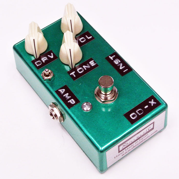 Shin's Music OD-X Overdrive Distortion Pedal Candy Green