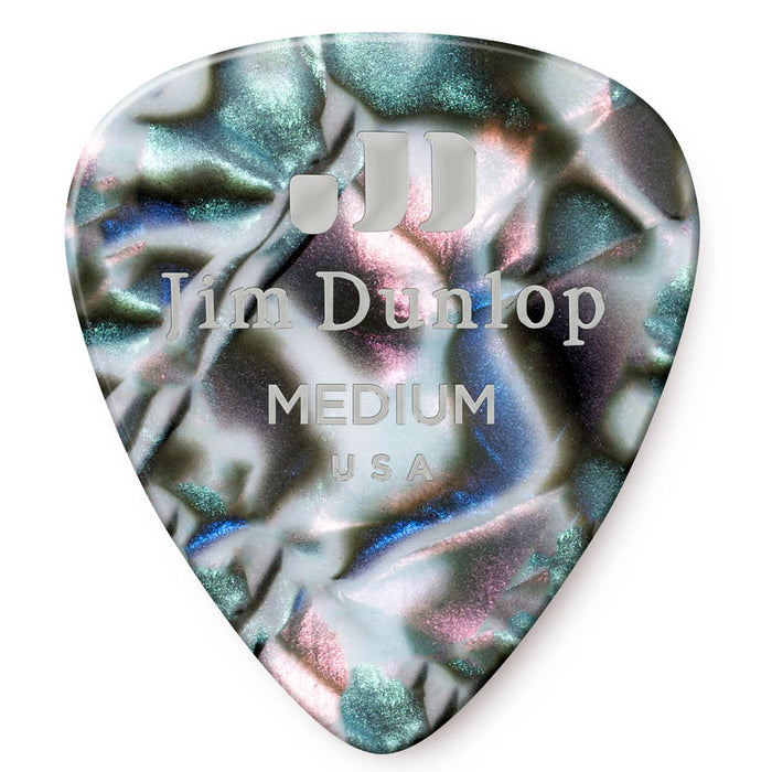 Dunlop Abalone Medium Celluloid Guitar Picks - 72 Pack (483R14MD)