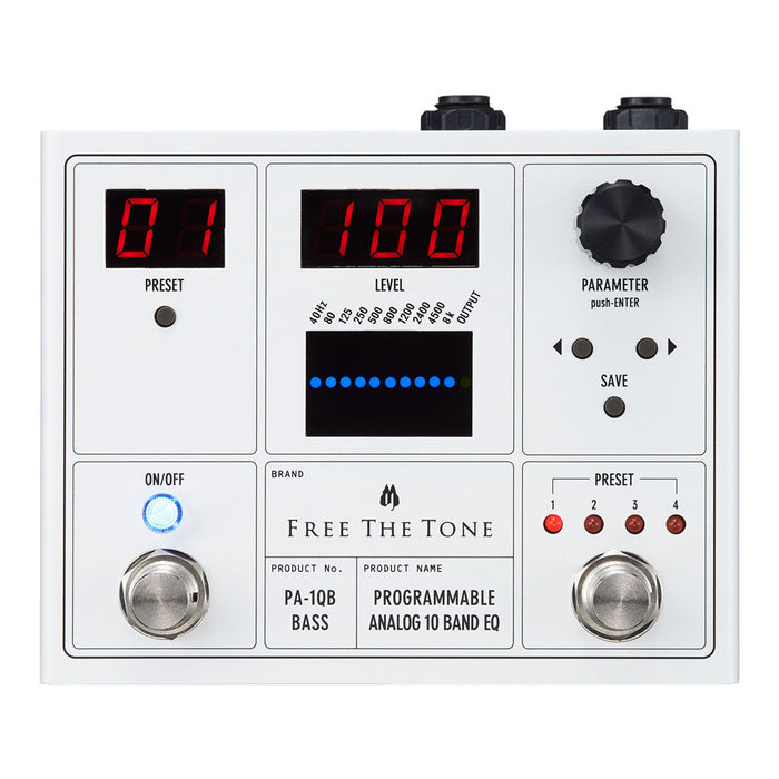 Free The Tone PA-1QB Pro Programmable Analog 10 Band EQ (For Bass)