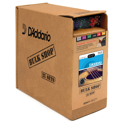 D'Addario EXP16-B25 Guitar Strings Sets 12-53 Light Gauge 25 Complete Sets