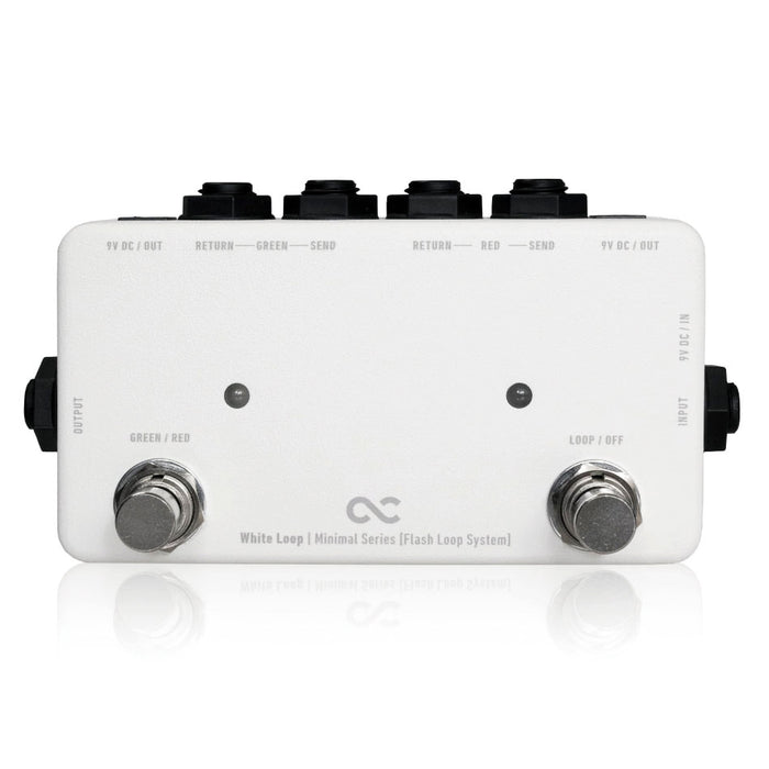 One Control Minimal Series WHITE LOOP 2 Loop True Bypass Looper w/2 DC Outs