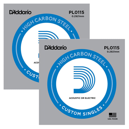 D'Addario Plain Steel Singles 10-Pack of .011 Gauge Single Strings