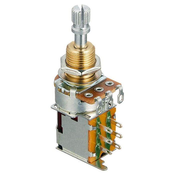 500K DPDT Push-Push Audio Taper Potentiometer Mini Pot