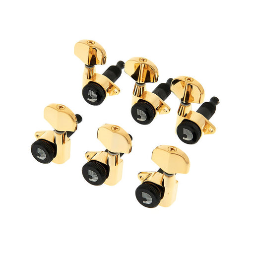 D'Addario 3-Per-Side Auto Trim Tuning Machines Gold PWAT-333L
