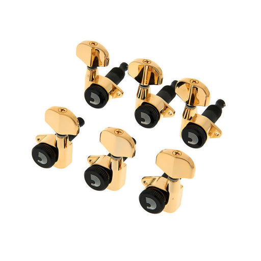 D'Addario 6-in-line Auto Trim Tuning Machines Gold PWAT-6R3
