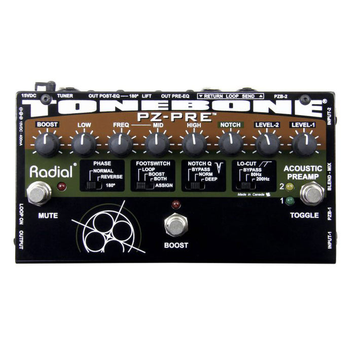 Radial Engineering PZ-PRE Dual Acoustic Instrument Preamp With DI Box