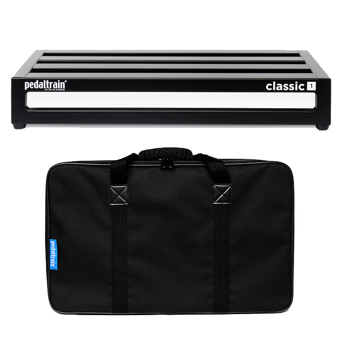 "PedalTrain PT-CL1-SC CLASSIC 1 Pedalboard With Soft Case 22"" x 12.5"""