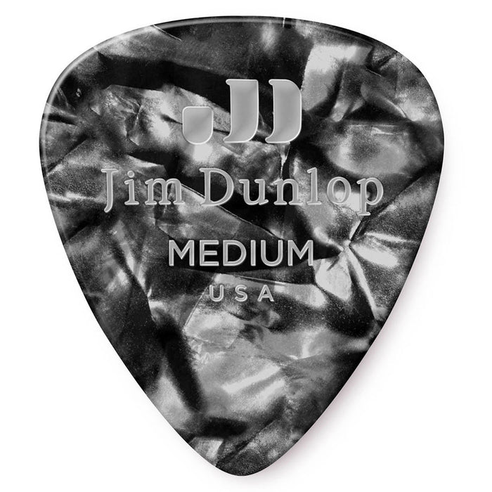Dunlop Black Perloid Medium Celluloid Guitar Picks - 72 Pack (483R02MD)