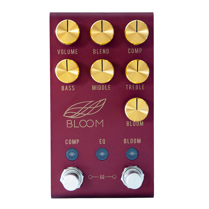 Jackson Audio Bloom V2 Midi EQ Boost Compression Pedal Limited Red