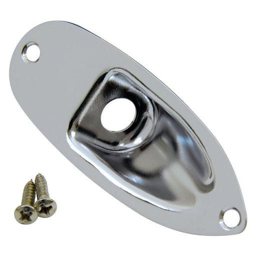Callaham Nickel Strat Jack Plate with 2 Stainless Steel Screws